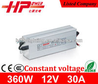 Factory price single output ac dc 360w 12v constant voltage LED driver
