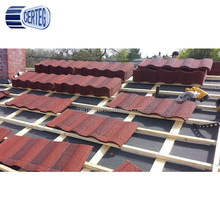 Solar roof tiles Stone Coated Metal Roof Tile For House,Stone coated step tiles roofing