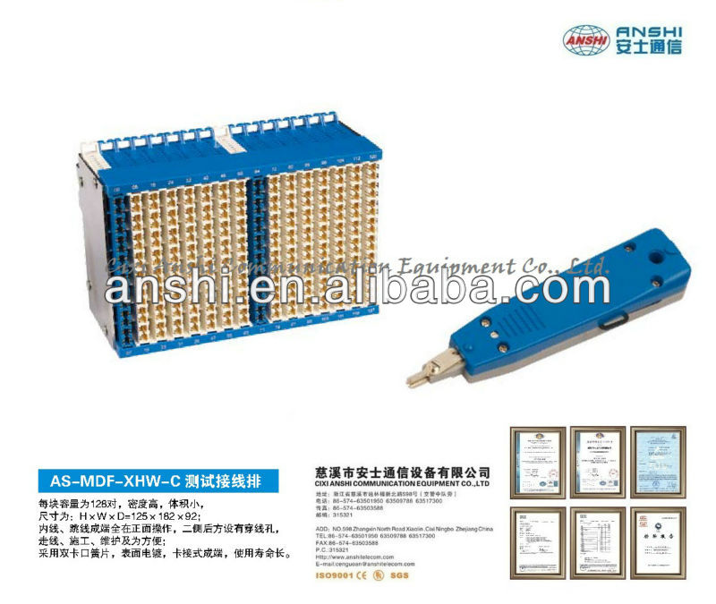ANSHI 128 Pairs Test Connection Block frame Module