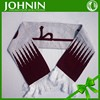 Hot selling custom knitted acrylic fan scarf