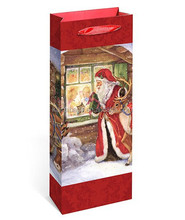 Festival Christmas Packing Decoration Wine Paper Bag