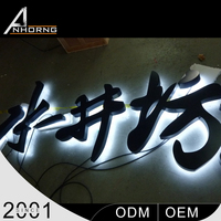 led toilet sign board lighted letters for happy holiday decoration bending machine