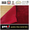 Fire resistant velour fabric for stage fabric from Trevira CS