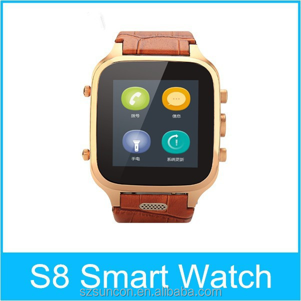 2015 New product S8 android smart bluetooth watch with unique features