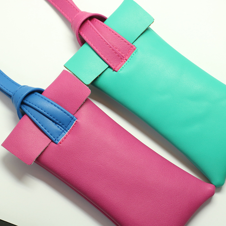 Factory supply supplier colorful folding reading glasses pouch OEM quality wholesale glasses bag