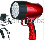 Hot selling multifunctional 18650 Battery 12 bright LEDs rechargeable spotlight