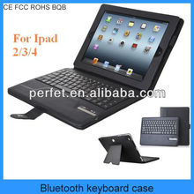Bluetooth keyboard case for ipad 2 3 4 keyboard case (PT-BKIP201)