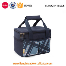 New Arrivals Large Capacity Oxford Fabric Insulated Lunch Bag Cooler Tote Bag (Blue)