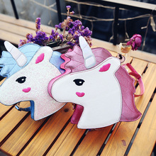 New cute playful little bags personality tide Unicorn hand bag laser shoulder diagonal female bag