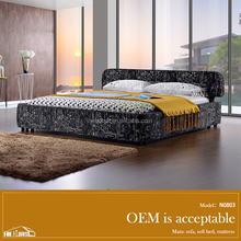 N0803#american furniture bedroom double bed design furniture/low bed/american style bed