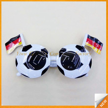 GBIY-402 2016 Euro football fans flag printed fashion sunglass/football glasses/private label sunglasses for souvenirs