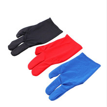 High Quality Durable Nylon 3 Fingers Glove for Billiard Pool Snooker Cue Shooter DHL free shipping