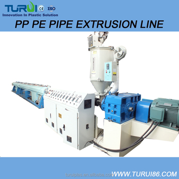 TURUI Plastic Pipe Extrusion Line for PVC HDPE PPR Pipe Machine