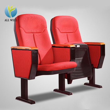 School lecture hall auditoriium chair seat with internal writing table
