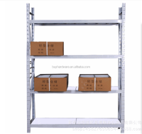 Metal 4 Layers Supmarket l shelf 200kg bearing capacity supermarket rack , OEM metal supermarket shelf for greenhouse