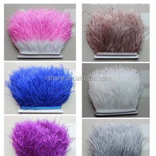 Ostrich Fringe Feathers/feather Strip/colorful Ostrich feather Fringe Trim