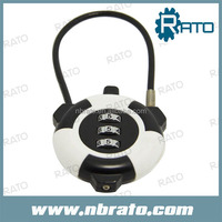 RP-165 cable 3 dial cute combination lock