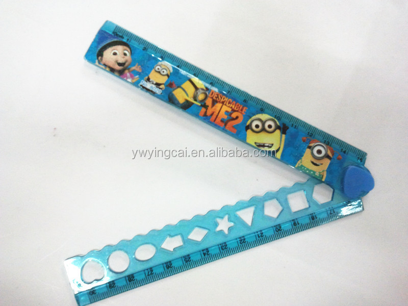 Factory Manufacture High Quality 18cm cartoon plastic Ruler stationery pain scale ruler