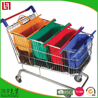 Production custom folding reusable supermarket shopping bag