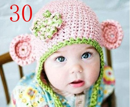 Baby's handmade knitted Hat and Soft knitting Caps
