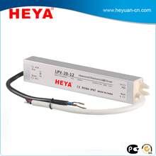 Waterproof power supply 20W 30w 50w 100w constant voltage led driver for outdoor lighting