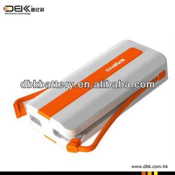 New design 6400mah portable power bank without unnecessary accessories