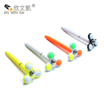 Novelty New Design Plastic Finger Toy Rotate Gyro Ballpoint Pen