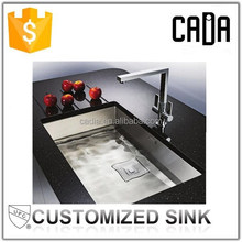 rectangular shape customized undermount kitchen equipments for restaurants with prices sinks