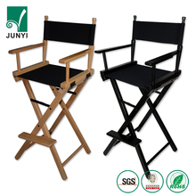 Cheap Wooden folding lawn chair director chairs canvas fabric make up beauty chair