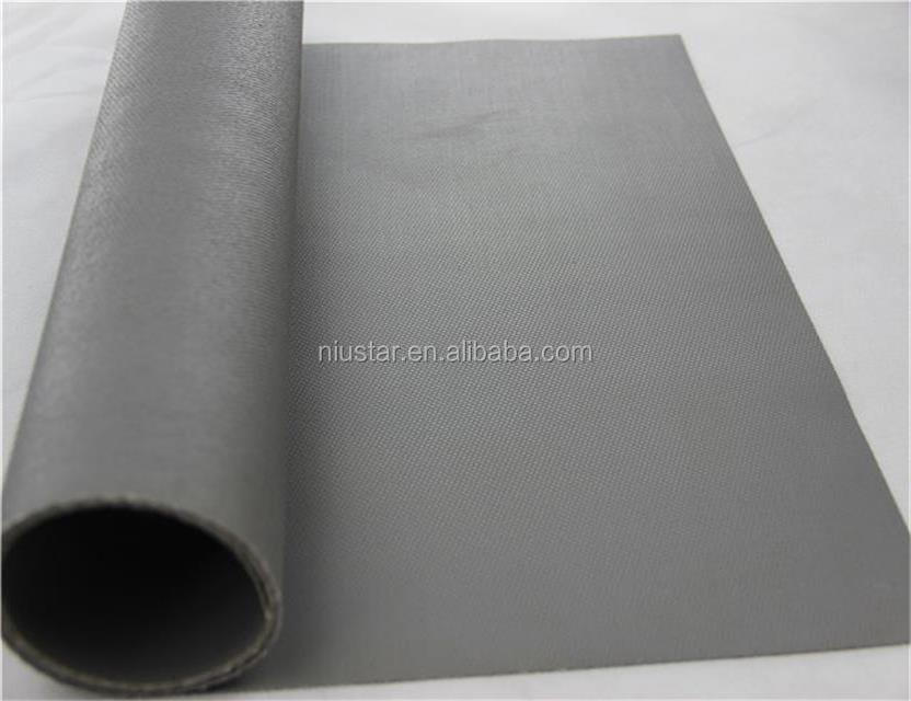 0.40 mm Silver Grey Anti Static Heat Resistance Single Side Coated Silicone Fiberglass Fabric