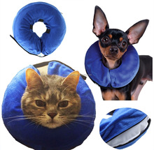 Pet Medical Wound Cone Elizabethan Dog and Cat Comfortable Recovery Inflatable and Does Not Block Vision E Collar