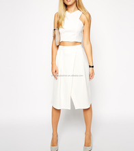 Crossover front 2014 latest fashion skirts for women