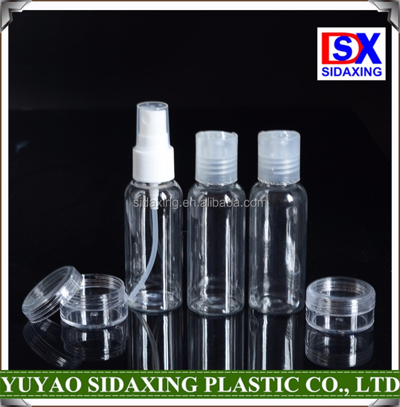 travel accessories,mini container Industrial Use and Easy Open End Sealing Type Travel Set Bottle
