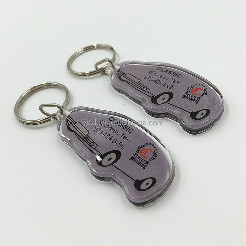 Car Shape Acrylic Keyring for Promotional Gift