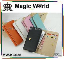 PU LEATHER WALLET PURSE CASE FOR IPHONE4/5