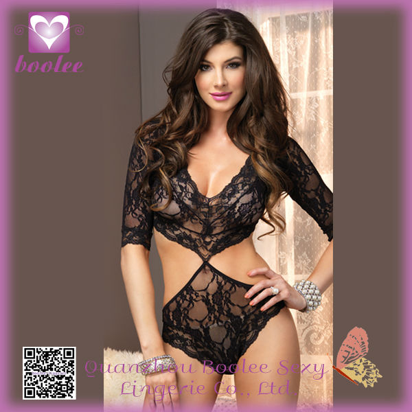 Open Hot Negligee Sexy Girls Inner Wear Babydoll