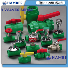 HAMBER 1/2 ,3/4 ,1 inch cheap plastic ppr brass ball valve for hot and cold water brass ppr stop gate valve pvc valve factory