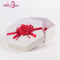 Custom printed red handmade flower satin ribbon for gift