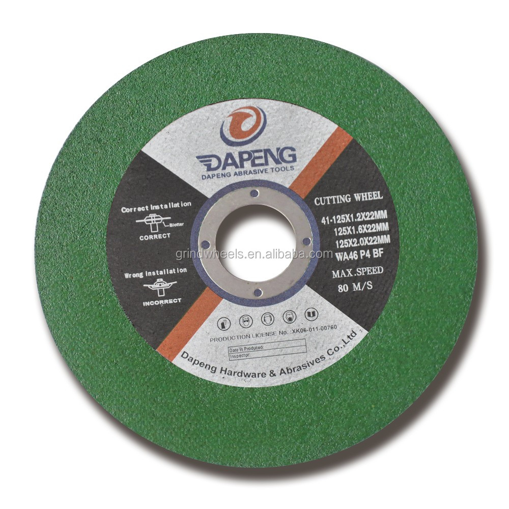 "China Dapeng brand 5""inch steel cutting wheel with best price"