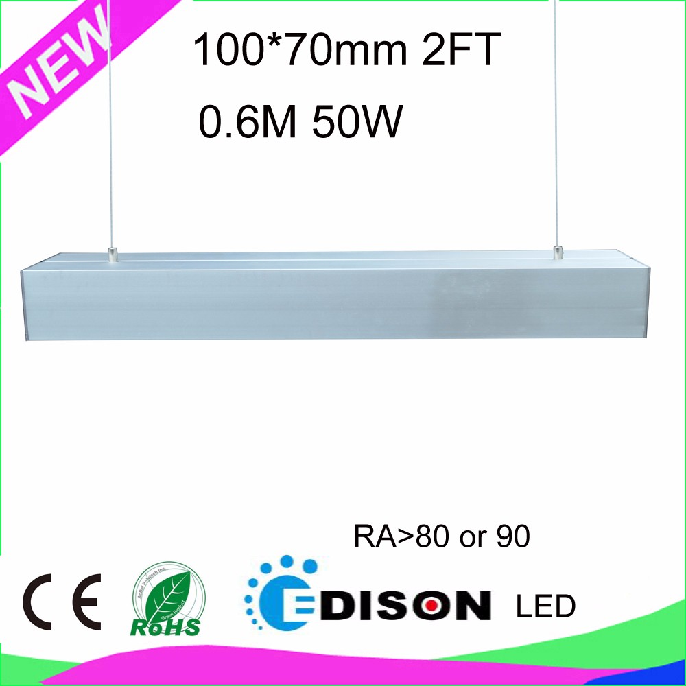 CRI80 or 90 50W 2FT 0.6M LED linear light