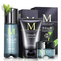 Nceko dark green tea refreshing hydrating skin care set for man cosmetics OEm wholesale