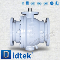 Didtek Top Quality ASME B16.34 flange trunnion mounted ball valve