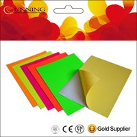 High Quality Fluorescent self adhesive craft paper