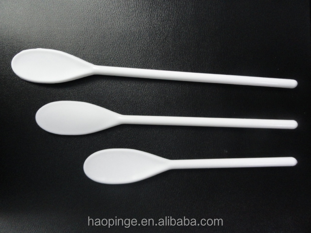 PLASTIC Serving Spoon plastic Salad Spoon Long Handle Printed Spoon