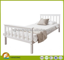 simple modern white double pine bed