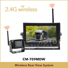 7 inch dashboard monitor and wireless reverse camera system for truck