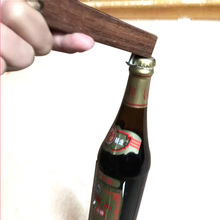 easily open custom wood handle screw nail hook bottle opener