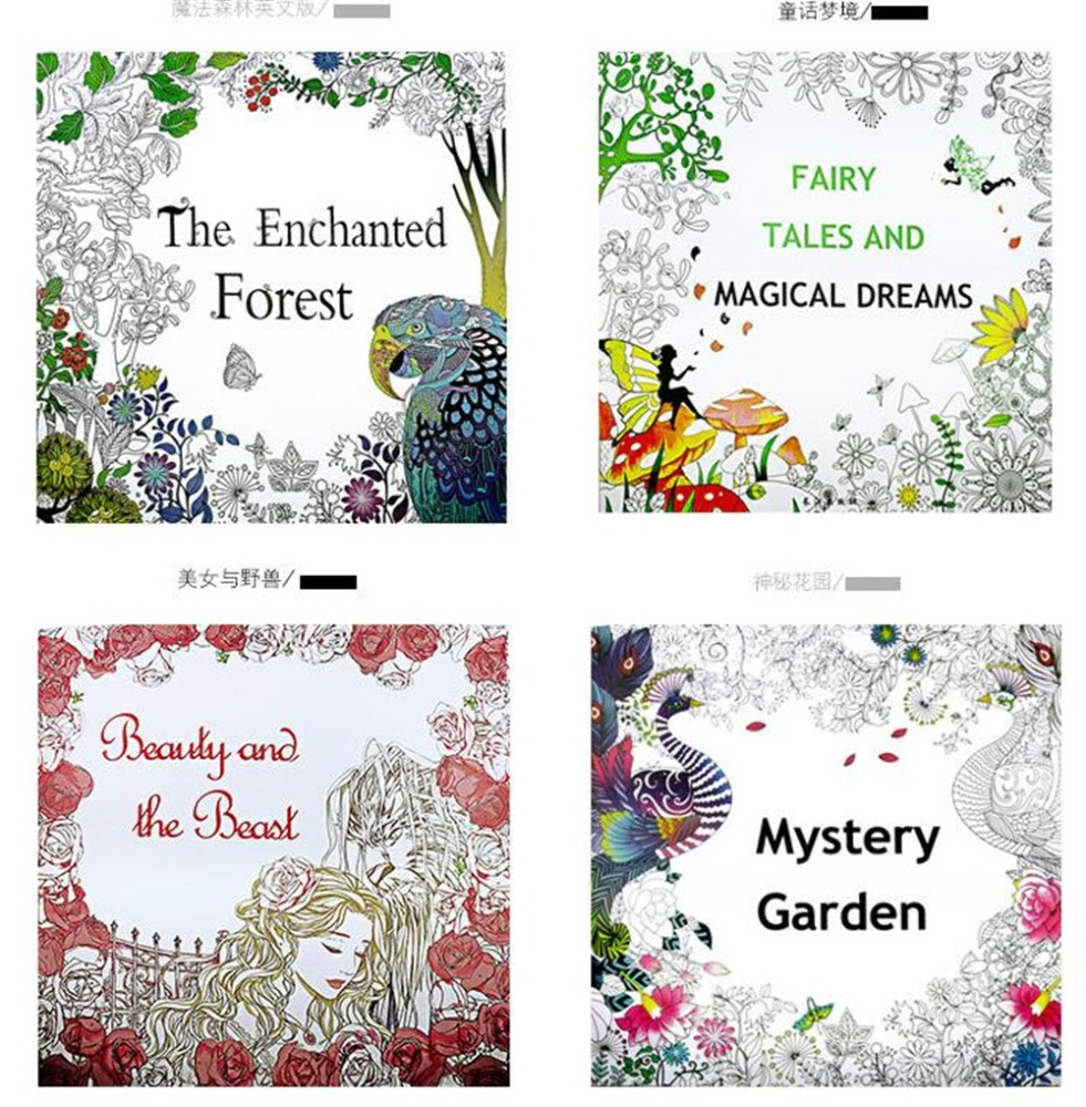 2016 best selling hand painting adult coloring book Best coloring books for adults 2016