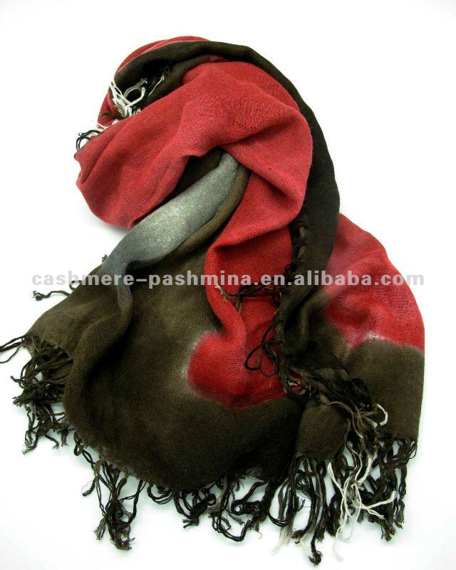 cashmere and silk blended pashmina hand painted square wraps/shawls in new collection