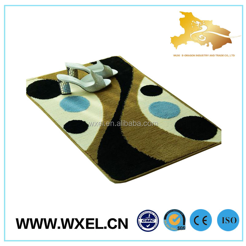 100%polyester new arrival price washable bathroom carpet tiles rug